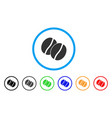 coffee beans rounded icon vector image vector image