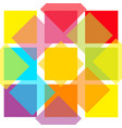 colorful abstract square pattern background flat vector image vector image