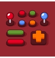 Colorful Buttons and Joysticks Set for Arcade