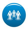 company icon blue vector image vector image