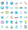 computer icons set cartoon style vector image vector image