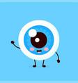 cute healthy happy human eyeball vector image vector image