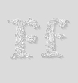 Decorated letter f vector image