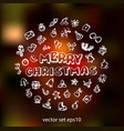 doodle christmas icons set vector image