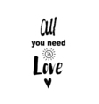 Doodle lettering about love vector image