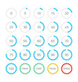 dot round progress bar vector image