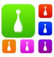 elegant parfume bottle set color collection vector image vector image