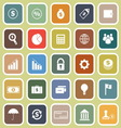 Finance flat icons on yellow background vector image