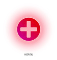 First aid red cross sign Medical cross vector image