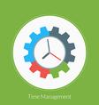 flat design concept for time management vector image