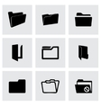 folder icons set vector image vector image