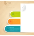 Four business tabs with different options and vector image vector image
