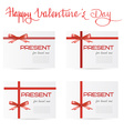 Hand written quote Happy Valentines day and set of vector image vector image