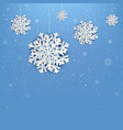 happy new year poster with snowflake vector image vector image