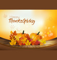happy thanksgiving holiday background with autumn vector image vector image