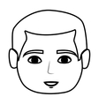 head young man isolated icon vector image