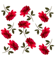 Holiday pattern with red beautiful roses vector image vector image