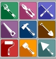 Icons of working tools vector image vector image
