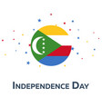 independence day of comoros patriotic banner vector image vector image