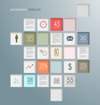 Info graphic squares web elements template vector image