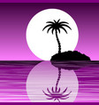 island with a palm tree vector image