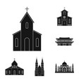 isolated object of religion and wedding icon vector image