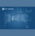 jet engine industrial blueprint vector image vector image