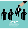 Lay Off vector image