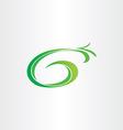 letter g bio gasoline plant icon vector image vector image