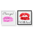 lipstick kiss print female sexy red lips sexy vector image vector image