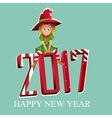 Merry christmas and Happy New Year colorful card vector image vector image