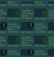 military signs seamless pattern vector image vector image
