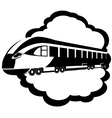 Modern rail transport vector image vector image