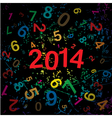New 2014 year with digits background vector image vector image