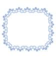 Openwork blue frame vignette for design vector image vector image