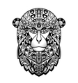 Ornamental Black Monkey vector image