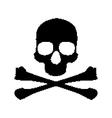 Pixel skull and bones vector image vector image