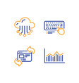 refresh website cloud storage and computer vector image vector image
