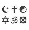 religions icons set image vector image