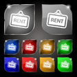 Rent icon sign Set of ten colorful buttons with vector image vector image