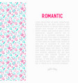 romantic concept with thin line icons vector image vector image