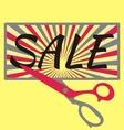 Sale with scissors vector image