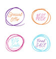 scribble circle drawn in scetch special offer and vector image vector image