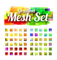 set gradient meshes for your design vector image vector image