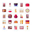 set of decorative cosmetics vector image vector image