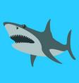 shark flat style profile vector image