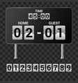 sports scoreboard - set of realistic vector image