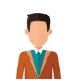 Stylish Young Man Avatar or Userpic in Flat Design vector image vector image