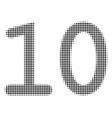 ten digits text halftone icon vector image vector image