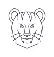 tiger line icon sign on vector image vector image